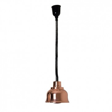 Lampada ad infrarosso in rame ø 230 mm h 90-180 mm